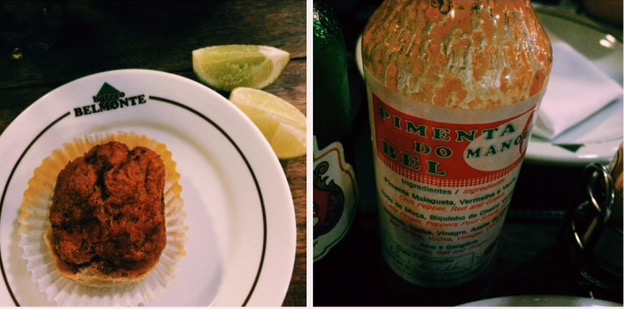Belmonte shrimp pie and chilli sauce